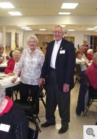 Bernie and Marilyn Bauer were recognized for the longest marriage at the party, 65 years!