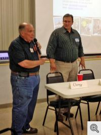 Buddy Dixon introduces speaker Jason Temple