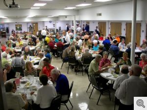 Second seating crowd at the Men's Club Fish Bake