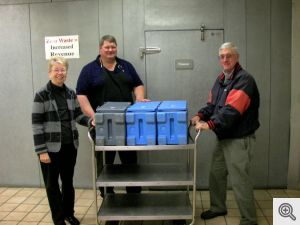 Ruth & Mike Kerwin picking up meals for delivery