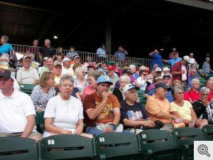 Arkansas Travelers fans from Sacred Heart enjoy the game at Dickey-Stephens ballpark.