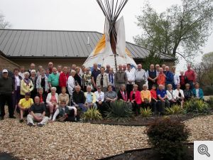 Museum of Native American History, the entire crew that went on the Crystal Bridges trip.