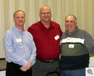 Boys & Girls Club Reps-Ike Eisenhauer, Joe Stiewe, Mens Club Rep-Buddy Dixon