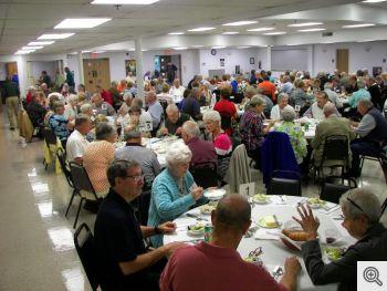 Men's Club Steak Dinner attendees